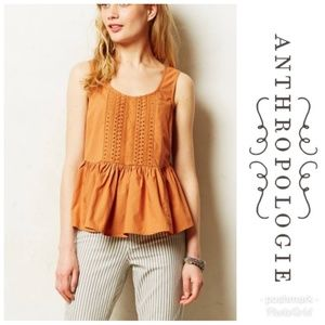 Anthropologie Vanessa Virginia Sleeveless Ruffled